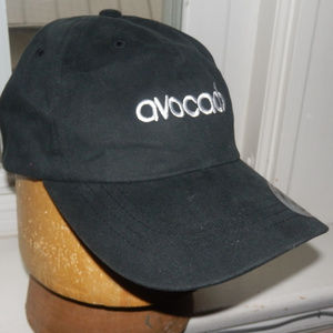 Black Yupoong Ball Cap with AVOCADO lettering